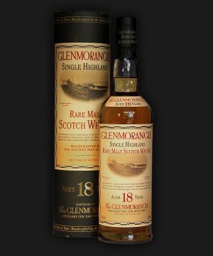 Glenmorangie 18 Year Old Rare Malt Scotch Whisky