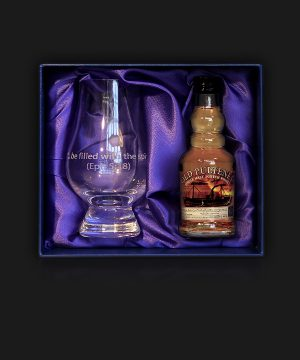 Miniature Whisky with Custom Engraved Glencairn Glass
