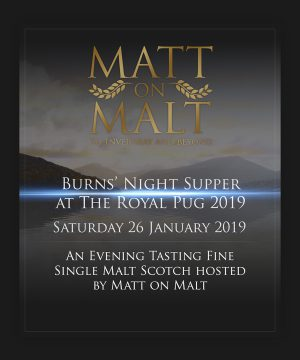 Event Ticket – Burns' Night Supper at The Royal Pug 2019 – 26.01.19