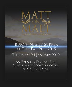 Event Ticket – Burns' Night Supper at The Fat Pug 2019 – 24.01.19